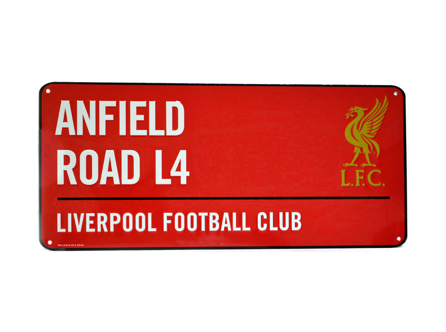 LFC Coloured Metal Street Sign