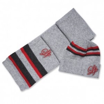 Stripe Badge Scarf Set