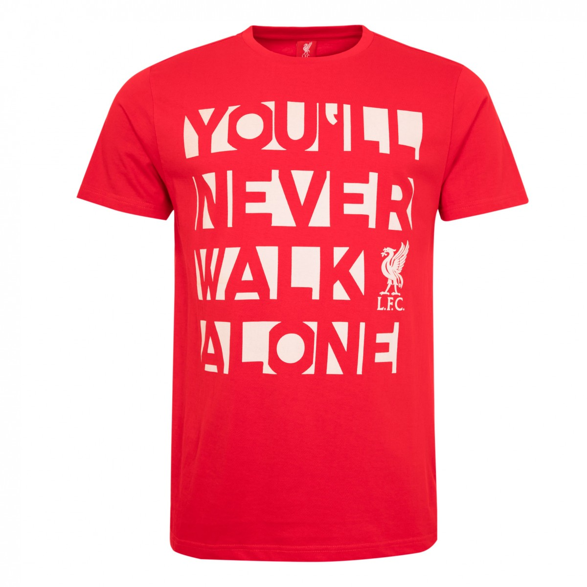 LFC MENS RED YOU'LL NEVER WALK ALONE TEE