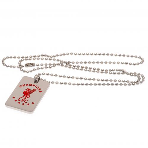 Champions Of Europe Colour Crest Dog Tag & Chain